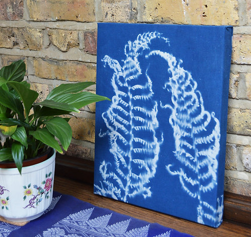 Cyanotype Fabric Mounted Wall Print