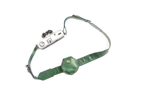 Green Leather Camera Strap