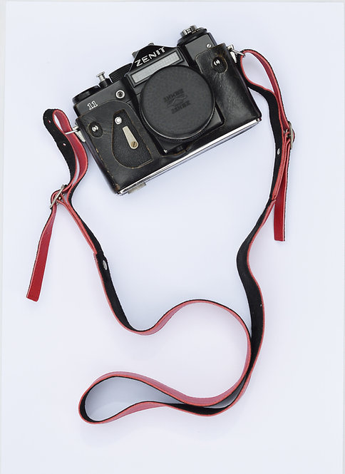 Hot Pink Leather Camera Strap