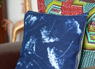 Cyanotype cushion cover!