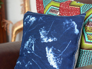 Cyanotype cushion cover!