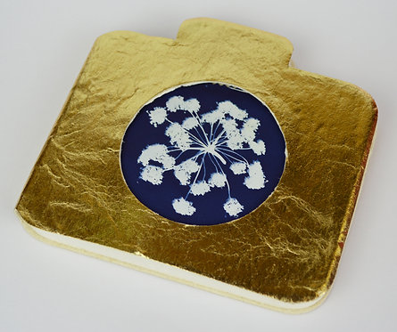 Vegan Notebook with Cyanotype Print