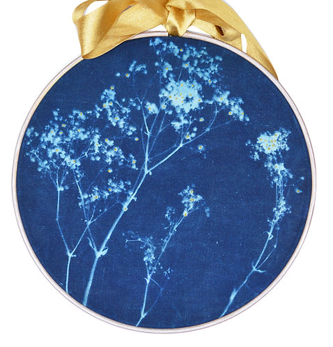 Cyanotype Fabric Mounted Wall Print