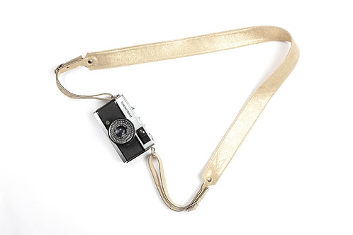 Gold Leather Camera Strap