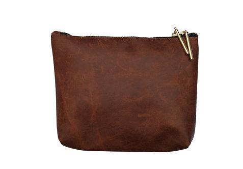Dark Brown Leather Purse
