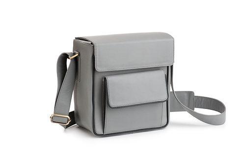 Grey Leather Camera/Travel Bag