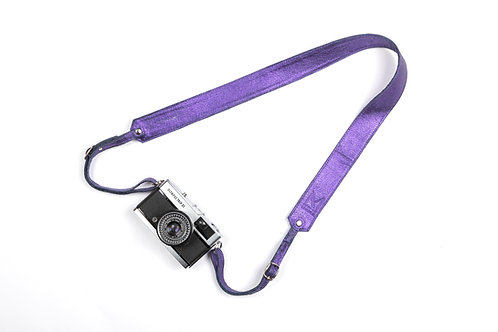 Ultra Violet Leather Camera Strap