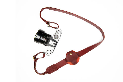 Red Leather Camera Strap