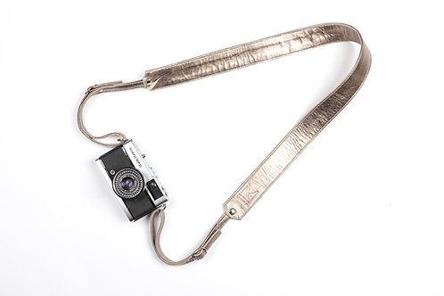 Bronze Leather Camera Strap