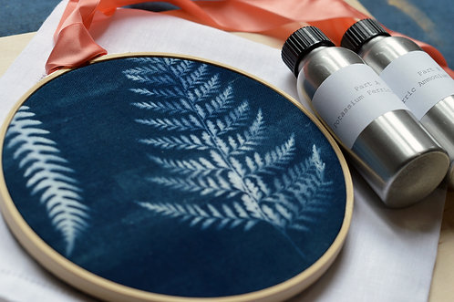 DIY Cyanotype Embroidery Hoop Printing Kit