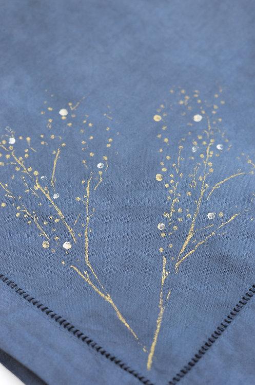 Hand Printed Botanical Napkins (set of 4)