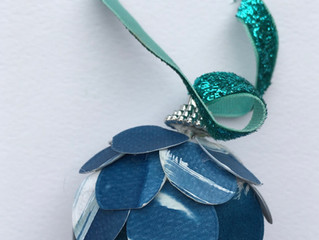 New cyanotype baubles!