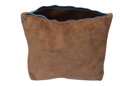 Brown Suede Leather Purse