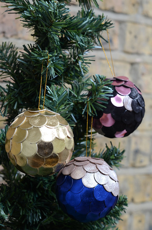 DIY Christmas Bauble Kit (leather)