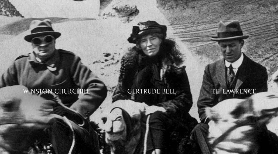 Bell with Churchill and Lawrence of Arabia