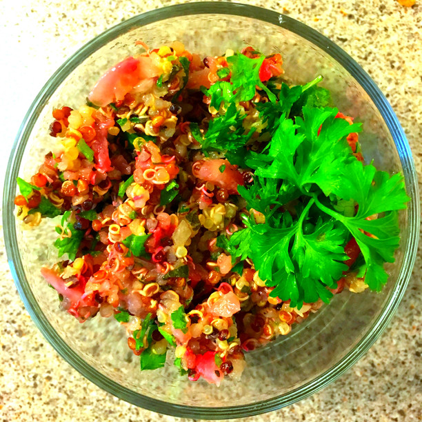 Summer Strawberry Quinoa Tabbouleh