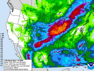 Los pronósticos de lluvias para el Midwest debilitan a los valores de los granos en Chicago.