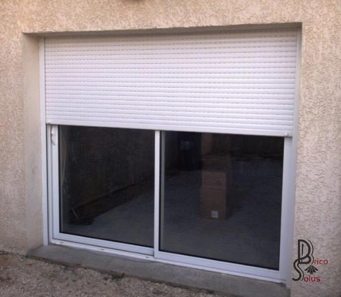 Porte Fenêtre Coulissante Aluminium Nouvelle Génération Avec Volet