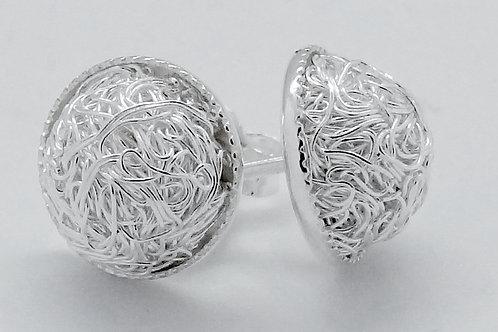 Sterling silver dot studded earrings