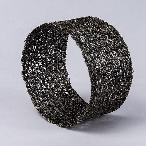 Wide Oxidised Silver Cuff