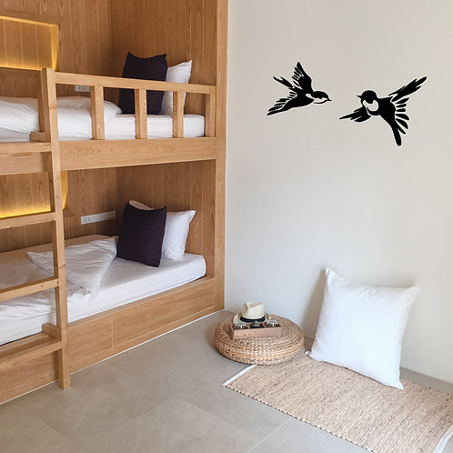 Two Birds in Flight Decal
