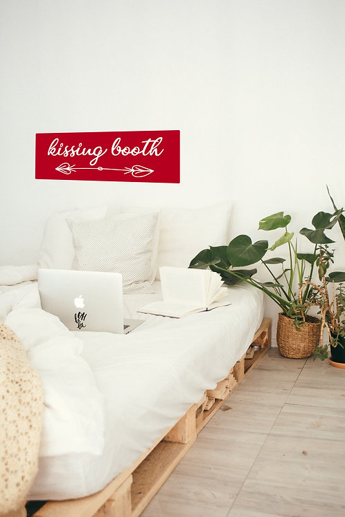 "Kissing Booth Wall Decal 13"" x 36"""