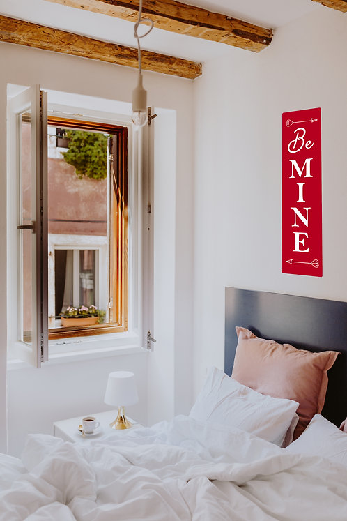 "Be Mine Wall Decal 13"" x 48"""