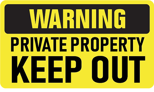 Pack of 10 - Warning Private Property Decal