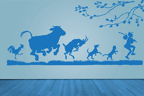 "Hey Diddle Diddle Decal 48"" x 101"""