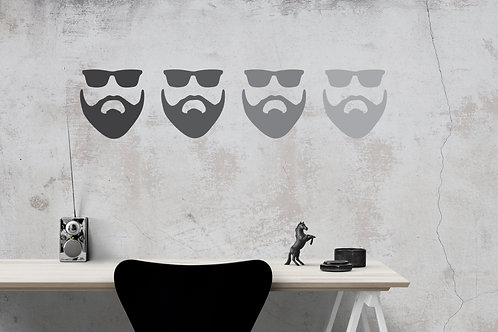 Bearded Man Decal