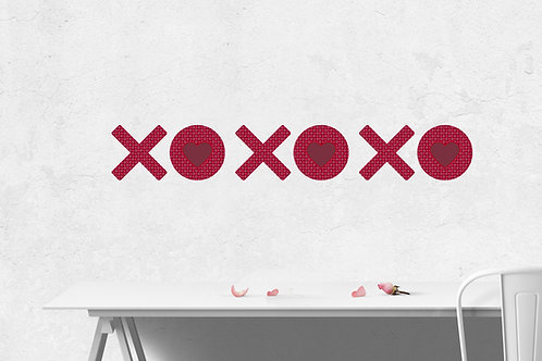 XO with XO Pattern Wall Decal