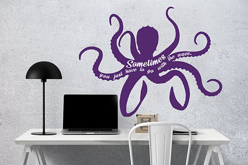 "Octopus Decal 24"" x 19"""
