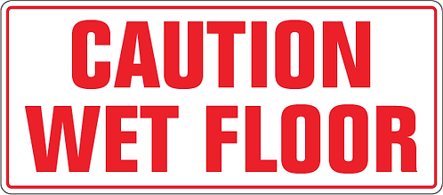 Pack of 10 - Caution Wet Floor Decal