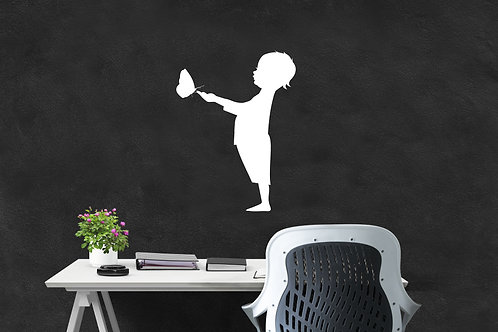 "Boy with Butterfly Decal 36"" x 48"""