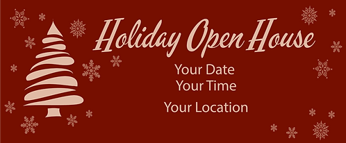 Holiday Open House Banner