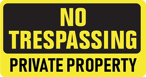 Pack of 10 - No Trespassing Private Property Decal