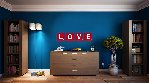 "Love Scrabble Wall Decal 11"" x 48"""