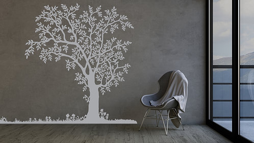 "Tree with Grass Decal 48"" x 40"""