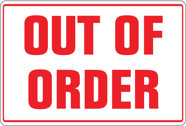 Pack of 10 - Out of Order Decal