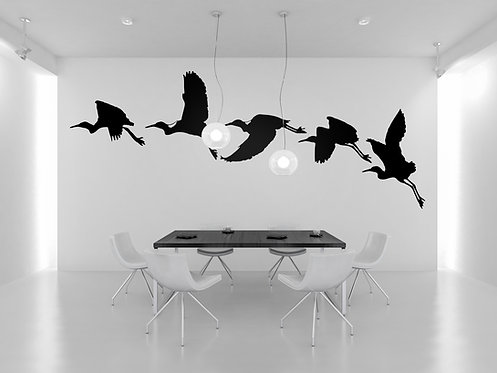 Flying Crane Decal