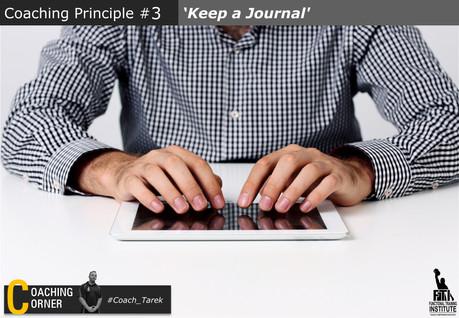 Coaching Principle 'Keep a Journal'
