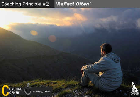 Coaching Principle: 'Reflect Often'