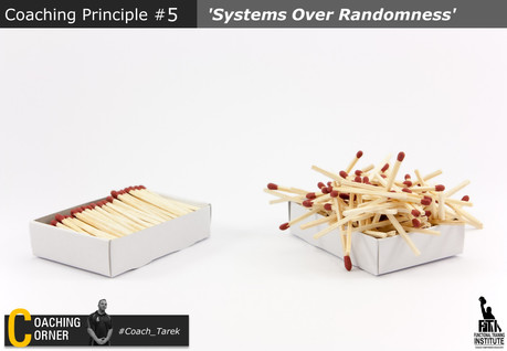 Coaching Principle: 'Systems over Randomness'