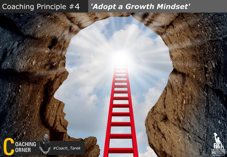 Coaching Principle: 'Adopt a Growth Mind-set'