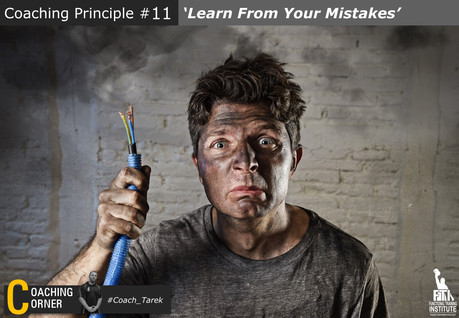 Coaching Principle: 'Learn from Mistakes'