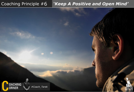 Coaching Principle: 'Keep a Positive and Open Mind'