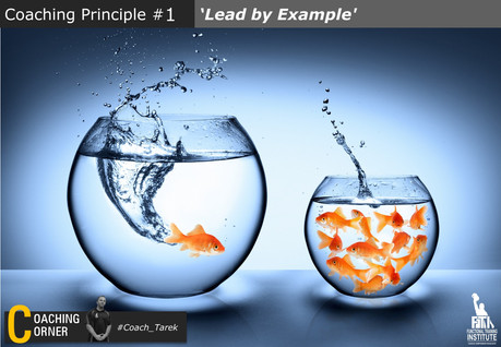Coaching principle: 'Lead by Example'