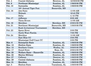 BSCC Softball Schedule