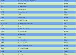 BSCC Volleyball Schedule