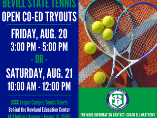 Bevill State Tennis Open Co-Ed Tryouts